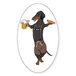 BT Lederhosen Doxie Oval Sticker (50 pk)