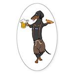 BT Lederhosen Doxie Oval Sticker (10 pk)