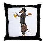 BT Lederhosen Doxie Throw Pillow