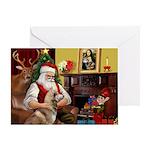 Santa's Red Husky Greeting Card