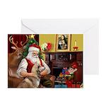 Santa's Red Husky Greeting Cards (Pk of 20)