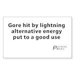 Political Haiku - Alternative Energy Sticker (Rect