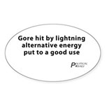 Political Haiku - Alternative Energy Sticker (Oval