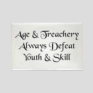 Age & Treachery Rectangle Magnet