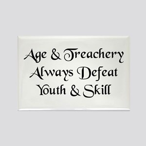 Age & Treachery Rectangle Magnet