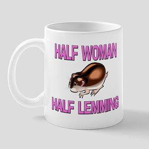 Half Woman Half Lemming Mug