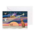 Xmas Star & Vizsla Greeting Cards (Pk of 10)