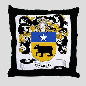 Benoit Family Crest Throw Pillow