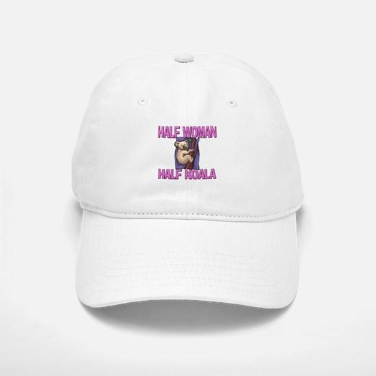 Half Woman Half Koala Baseball Baseball Cap