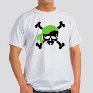 Skull and Crossbones II Green Light T-Shirt
