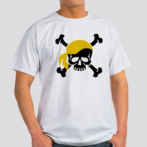 Skull and Crossbones II Gold Light T-Shirt