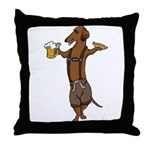 Dachshund Lederhosen Throw Pillow