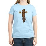 Dachshund Lederhosen Women's Light T-Shirt
