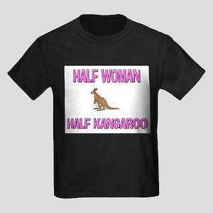 Half Woman Half Kangaroo Kids Dark T-Shirt