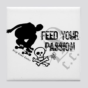 Feed Your Passion Skateboard Tile Coaster