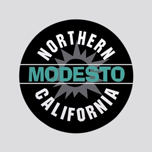 """Modesto California 3.5"""" Button"""