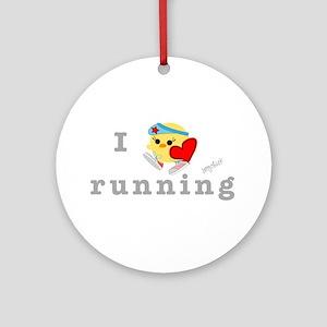 I Love Running Ornament (Round)