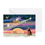 Xmas Star &Welsh T Greeting Cards (Pk of 10)