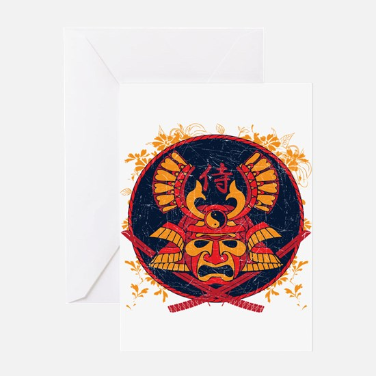 Samurai Stamp Greeting Card