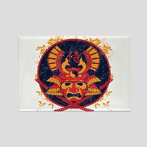 Samurai Stamp Rectangle Magnet