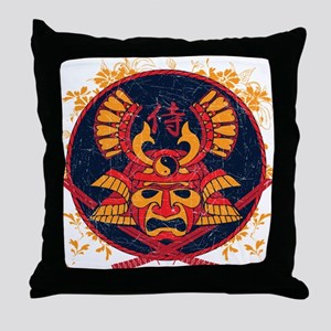 Samurai Stamp Throw Pillow