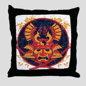 Samurai Stamp Throw Pillow