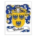 Berthelot Family Crest Small Poster
