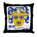 Berthelot Family Crest Throw Pillow