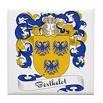 Berthelot Family Crest Tile Coaster
