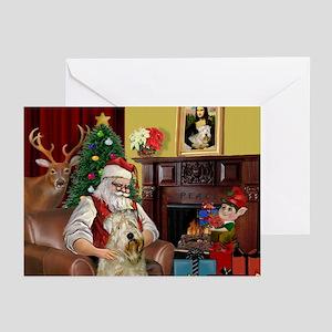 Santa's Wheaten (#7) Greeting Cards (Pk of 20)
