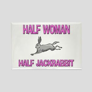 Half Woman Half Jackrabbit Rectangle Magnet