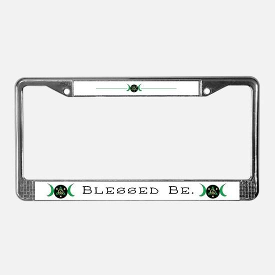 Blessed Be Goddess Symbol License Plate
