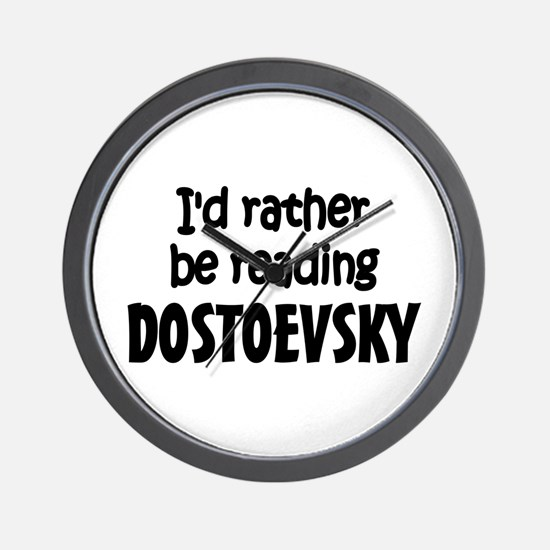 Dostoevsky Wall Clock