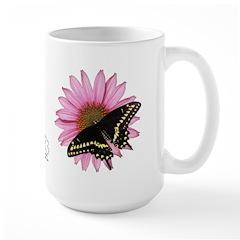 Black Swallowtail/Purple Coneflower (large mug)