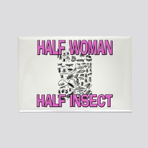Half Woman Half Insect Rectangle Magnet