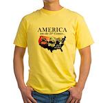21st Century America Yellow T-Shirt