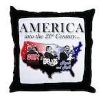 21st Century America Throw Pillow