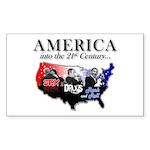 21st Century America Sticker (Rectangle)