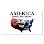 21st Century America Sticker (Rectangle 50 pk)