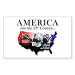 21st Century America Sticker (Rectangle 10 pk)
