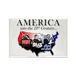 21st Century America Rectangle Magnet (100 pack)