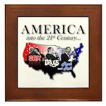 21st Century America Framed Tile