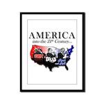21st Century America Framed Panel Print