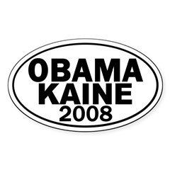 Obama-Kaine 2008 Oval Decal