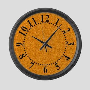 Rough Orange 04 Large Wall Clock