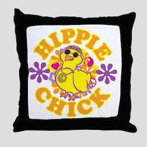 Hippie Chick Throw Pillow