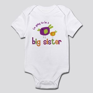 big sister t-shirts birdie Infant Bodysuit