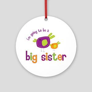 big sister t-shirts birdie Ornament (Round)