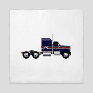 Blue American Truck Queen Duvet