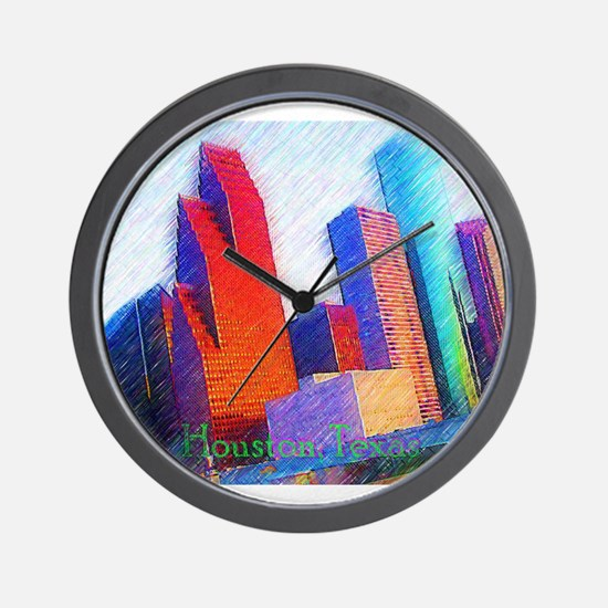 HOUSTON, TEXAS - ART Wall Clock